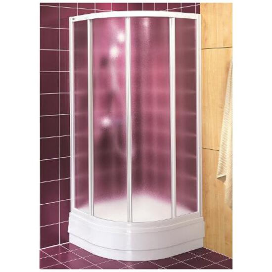 Kabina prysznicowa półokrągła AKORD 80x80cm szkło hartowane ze wzorem CREPI RKPG80202000 Koło