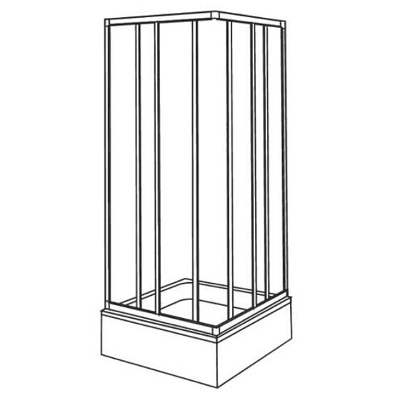 Kabina prysznicowa kwadratowa AKORD 80x80cm szkło hartowane ze wzorem CREPI RKDK80202000 Koło