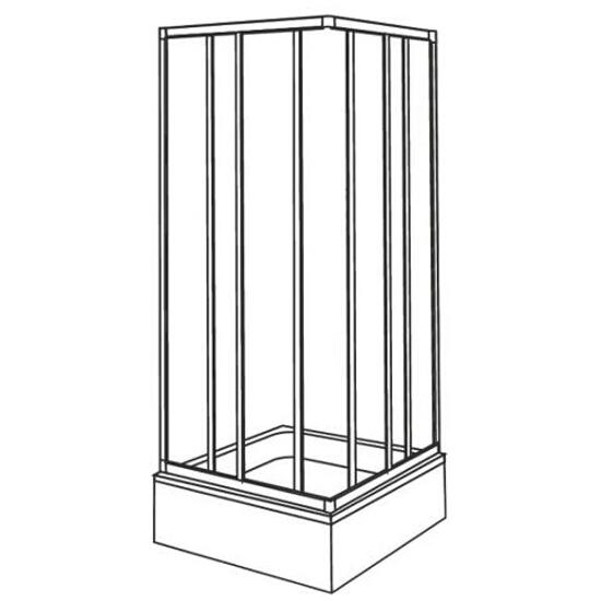 Kabina prysznicowa kwadratowa AKORD 90x90cm szkło hartowane ze wzorem CREPI RKDK90202000 Koło