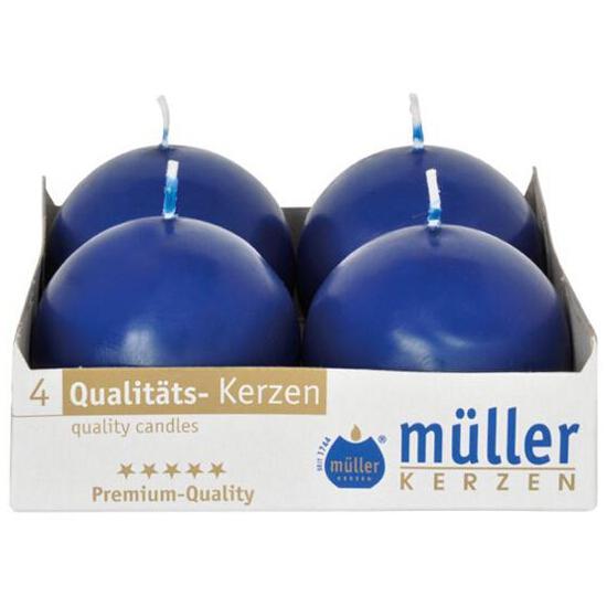 Świeca kula 60mm kpl 4szt kolor indigo Muller