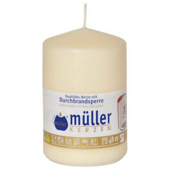 Świeca walec 110x70mm kolor waniliowy Muller