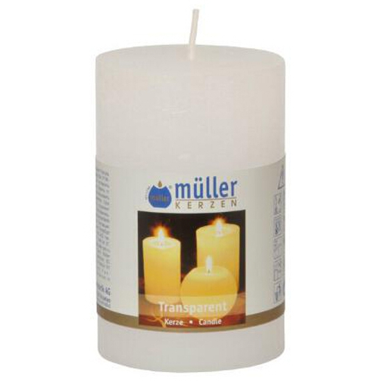 Świeca walec polarowy 90x58mm kolor biały Muller