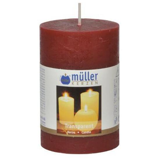 Świeca walec polarowy 90x58mm kolor wina Muller