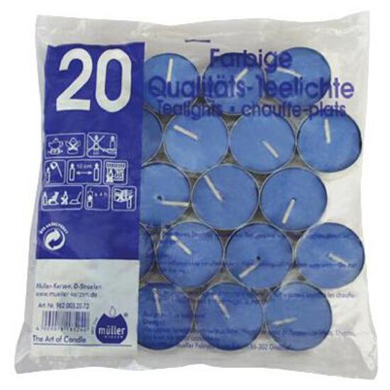 Podgrzewacze 20szt kolor niebieski Muller