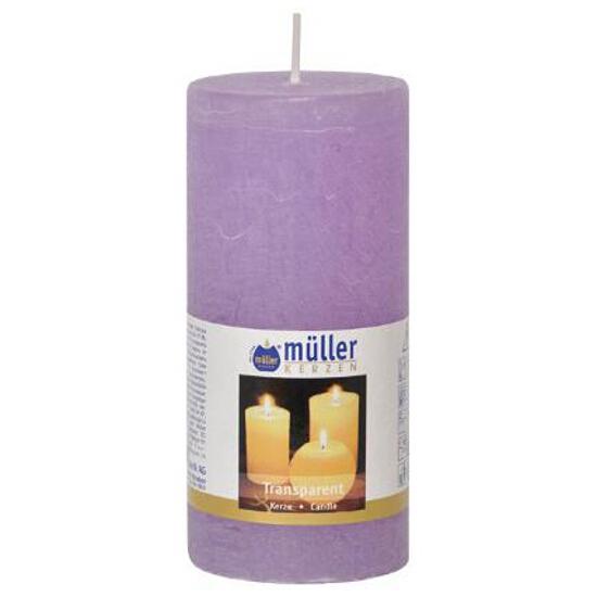 Świeca walec polarowy 125x58mm kolor bzu Muller