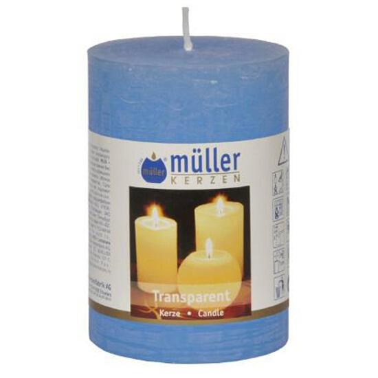 Świeca walec 100x68mm kolor niebieski Muller
