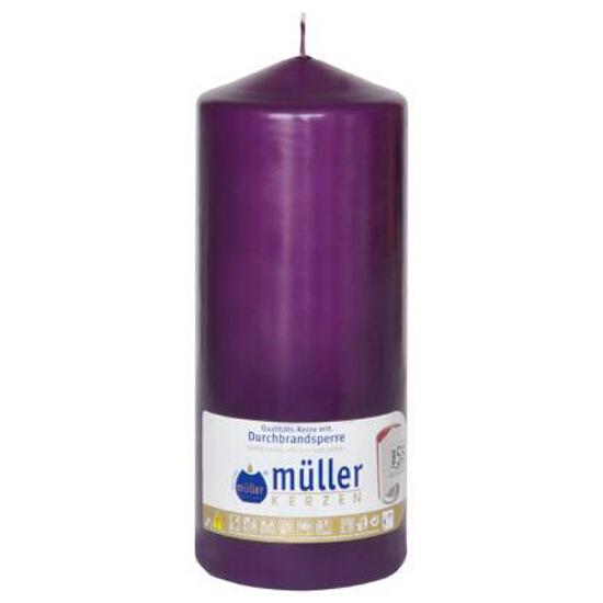 Świeca walec 200x80mm kolor fioletowy Muller