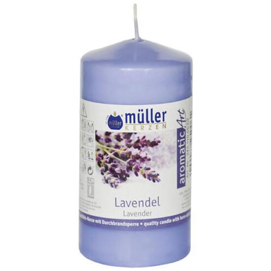 Świeca zapachowa walec 110x55mm lawenda Muller