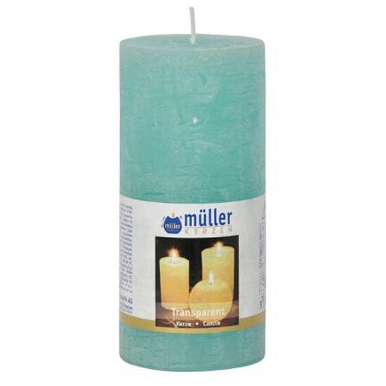 Świeca walec polarowy 125x58mm kolor turkus Muller