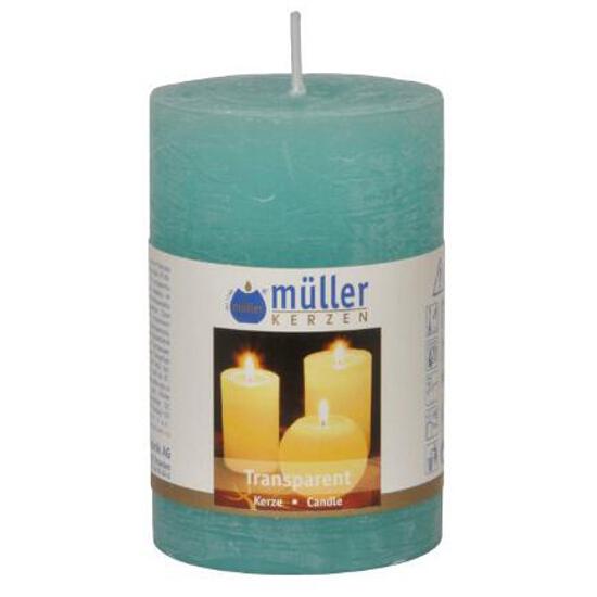 Świeca walec polarowy 90x58mm kolor turkus Muller