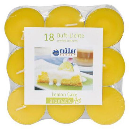 Podgrzewacze zapachowe Flat Pack 18szt cytrynowe ciasto Muller