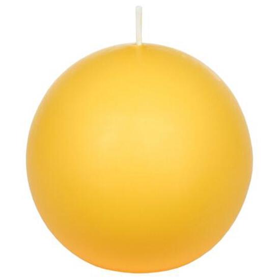 Świeca kula 75mm kolor żółty Muller