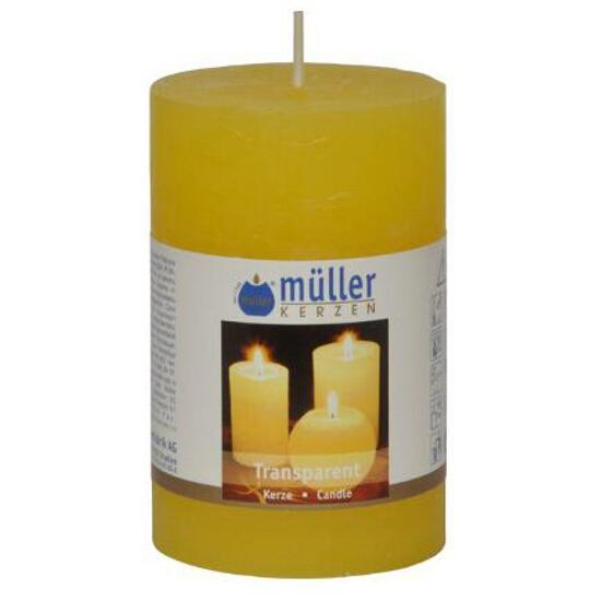 Świeca walec polarowy 90x58mm kolor żółty Muller