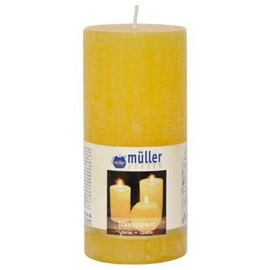 Świeca walec polarowy 125x58mm kolor żółty Muller