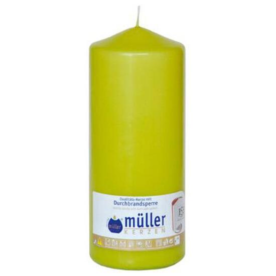 Świeca walec 200x80mm kolor majowa zieleń Muller