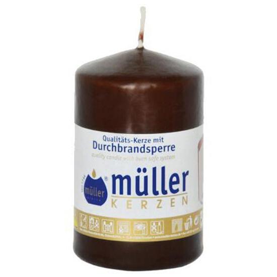 Świeca walec 90x55mm kolor schoko Muller