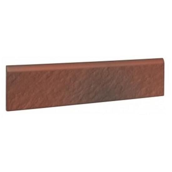 Klinkier Shadow red cokół strukturalny 3-d 30x8 Opoczno