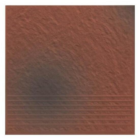 Klinkier Shadow red stopień strukturalny 3-d 30x30