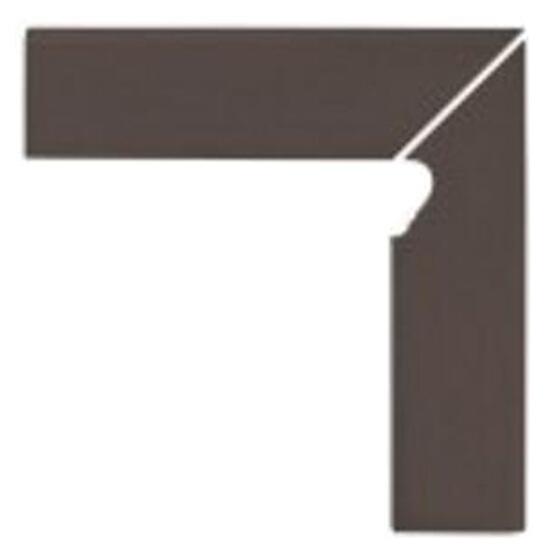 Klinkier Simple brown cokół schodowy prawy 30x8