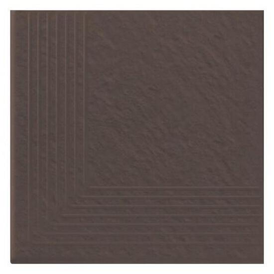 Klinkier Simple brown stopień narożny strukturalny 3-d 30x30