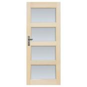 Drzwi sosnowe Obsydian przeszklone (4 szyby) 80 prawe Radex