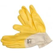 Rękawice powlekane gumą, żółte rozm. 10 YT-7481 Yato