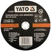 Tarcza tnąca do metalu oraz INOX 230x22x2,0mm YT-6107 Yato