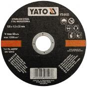 Tarcza tnąca do metalu oraz INOX 125x22x1.2mm YT-6103 Yato