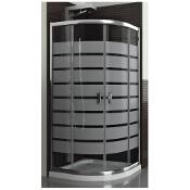 Kabina prysznicowa półokrągła LAZURO BRICK 90 100-06567 Aquaform