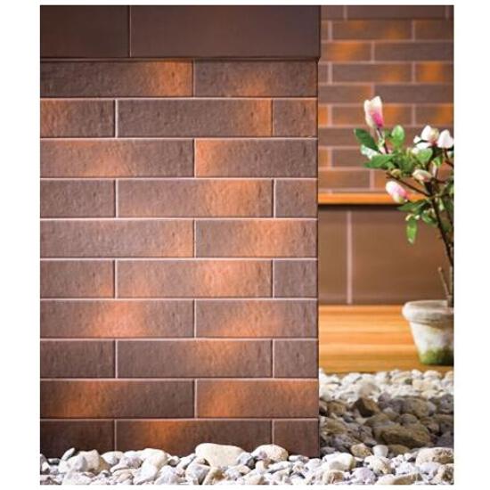 Klinkier Shadow brown cokół schodowy lewy 30x8
