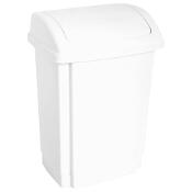 Kosz na śmieci Swing 15L biały Plast Team