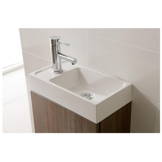 Szafka z umywalką i lustrem w zestawie YOUNG Grey 162342 Elita