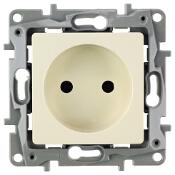 Gniazdo ścienne modułowe Niloe Eco 2P 16A zaciski śrubowe kremowy 664638 Legrand