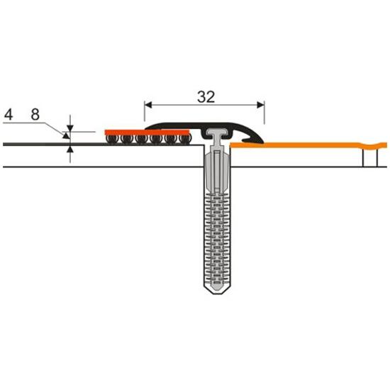 Listwa zakończeniowa 32mm PVC wiąz 5E dł. 1 m D-Z0100-5E-100 Myck