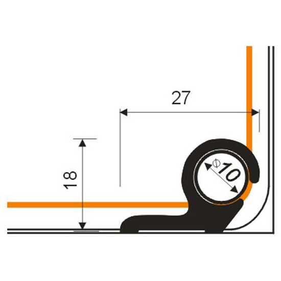 Pręt schodowy fi10 ALU srebro 01 dł. 0,8m E-E1000-01-080 Borck