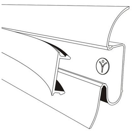 Listwa przypodłogowa 54 PVC dąb n2 F3 dł. 2,5m A-PLCOX-F3-250 Prexa