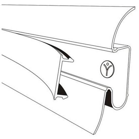 Listwa przypodłogowa 54 PVC wiąz n1 F6 dł. 2,5m A-PLCOX-F6-250 Prexa