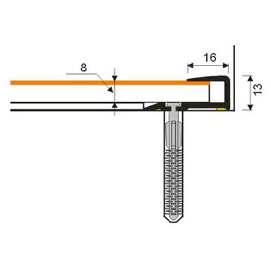 Listwa zakończeniowa 16x25x8 PVC orzech 9E dł. 1m D-Z0200-9E-100 Myck