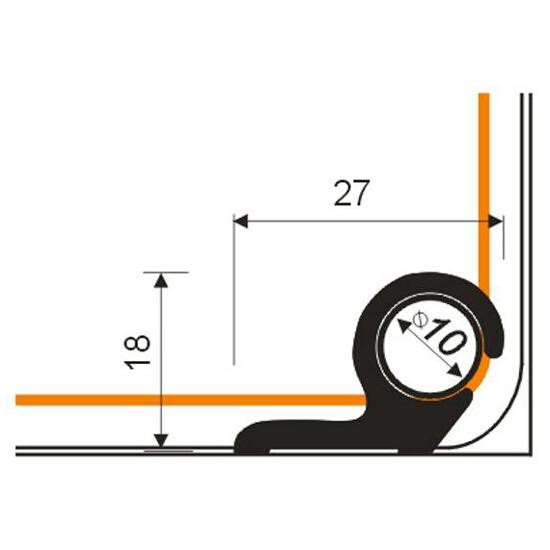 Pręt schodowy fi10 ALU srebro 01 dł. 0,9m E-E1000-01-090 Borck