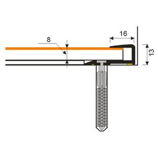 Listwa zakończeniowa 16x25x8 PVC wenge 0P dł. 2m D-Z0200-0P-200 Myck
