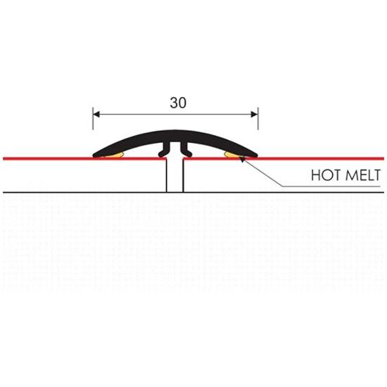 Listwa dylatacyjna 30mm PVC dąb G3 dł. 1m M-M0300-G3-100 Montic