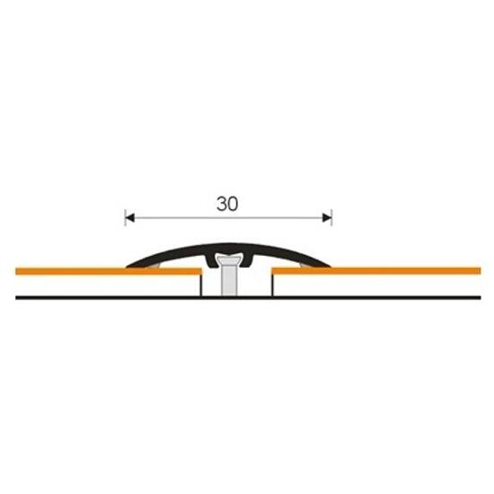 Listwa dylatacyjna 30mm ALU wenge 0P dł. 2,7m 1-10100-0P-270 Aspro