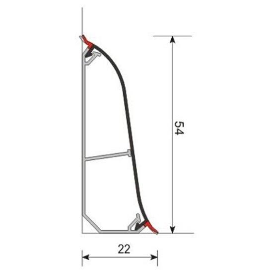 Listwa przypodłogowa 54X dąb H6 dł 2,5m A-5XLCO-H6-250 Aspro