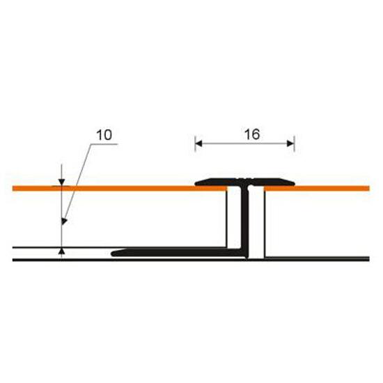 Listwa dylatacyjna 16x10 ALU wenge 0P dł. 2,5m 2-27388-0P-250 Zic Zac