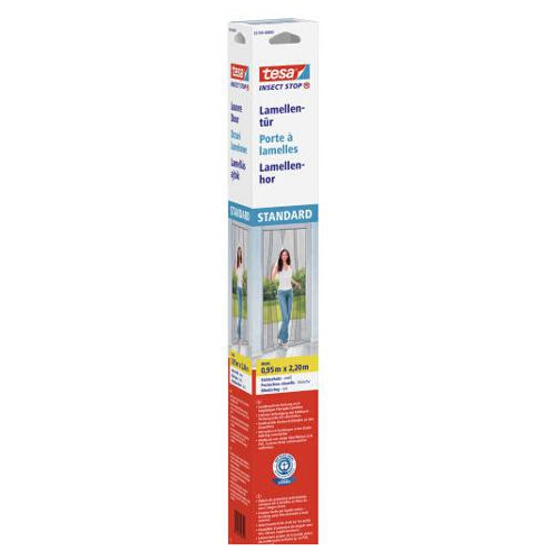 Moskitiera drzwiowa Comfort Lamella mocowana na rzep 2x0,95x2,2m biała Tesa Tape