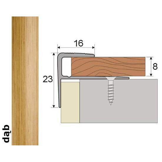 Listwa schodowa Effect Standard A60 dąb 120cm Effector