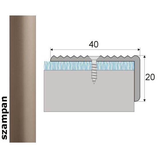 Listwa schodowa Effect Standard A33 szampan 360cm Effector