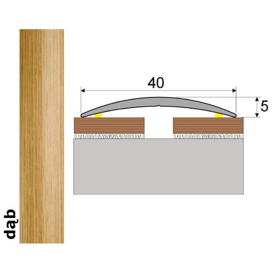 Listwa dylatacyjna Effect Standard A13 samoprzylepna dąb 360cm Effector