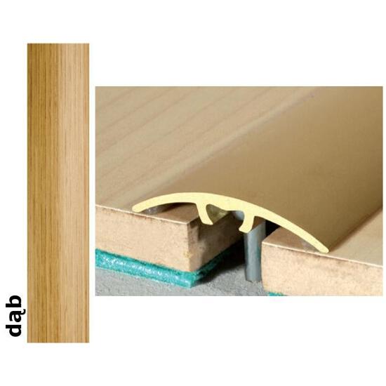 Listwa dylatacyjna Effect Standard A66 z uszczelką silikonową dąb 120cm Effector