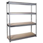 Regał metalowy wciskany 4 półki HEAVY 500 ocynk 720006 Avasco